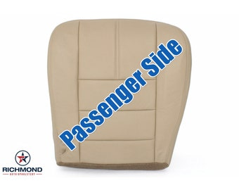 2008 2009 2010 Ford F-250 F-350 Lariat Leather Seat Cover: Passenger Bottom, Tan