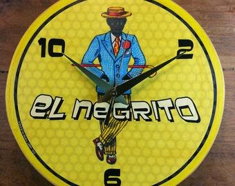 Loteria El Negrito Wall Clock