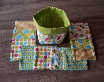 Basket and wipes for baby