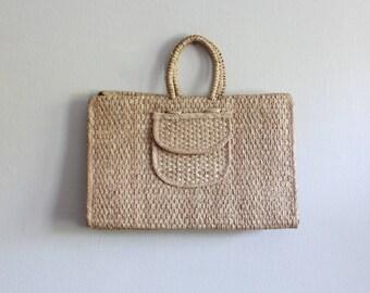 Vintage sac de cabas Oversize paille tressé