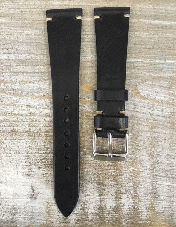 20/16mm Classic Italian Calf watch band - Black