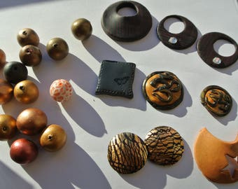 set of twenty-two pieces of polymer clay