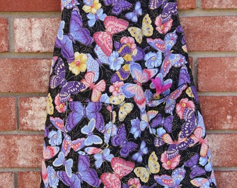 Baby  - Butterfly Purple Pinafore Dress