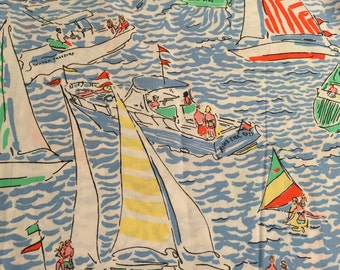 Patches GET NAUTI fabric Lilly Pulitzer  6x6 5x5