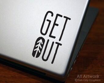 Get Out - Vinyl Decal - Get Outdoors - Get Outside - Go Outdoors, Vinyl Sticker, Laptop Sticker, Car Decal, Car Window Decal, Bumper Sticker