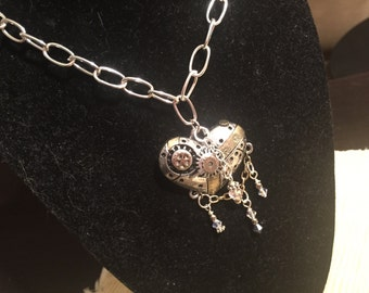 Long statement heart necklace