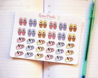 Slippers Planner Stickers  | Stationery for Erin Condren, Filofax, Kikki K and scrapbooking
