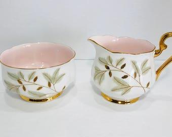 Royal Albert Braemar large Creamer and Sugar Bowl Set Bone China England