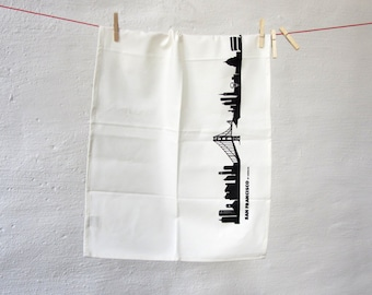 Tea Towel SAN FRANCISCO - eco-friendly wedding gift / hostess gift - kitchen towels - his and hers - Kitchen Decor - made by 44spaces