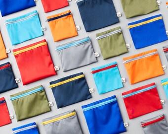 Family ~ 12 reusable bags ~ Reusable snack and sandwich zipper bags