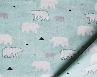 Tissu jersey - Ice Bear mint