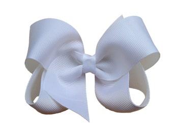 YOU PICK 3 hair bows - 4 inch hair bows, hair bows, girls bows, girls hair bows, baby bows, toddler bows, boutique bows, toddler bows, bows