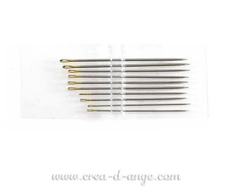 1 sewing needle by hand to tip 32mm