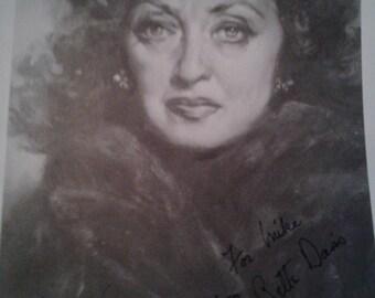 Bette  Davis autographed photo