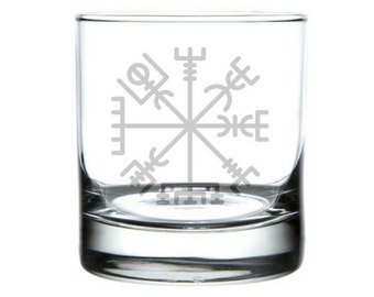 Vegvisir etched glass, Huld mauscript, Icelandic symbol, Viking symbols, That which shows the way, Norse mythology, Norse symbols