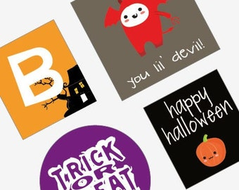 Halloween Bundle Pack - Get three Halloween sheets for only 4 dollars - Choose from scrabble size, one inch, 7/8 inch or 1 inch rounds