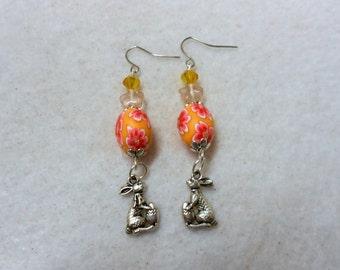 Easter Earrings, Easter Bunny Earrings, Easter Egg Earrings, Easter Jewelry