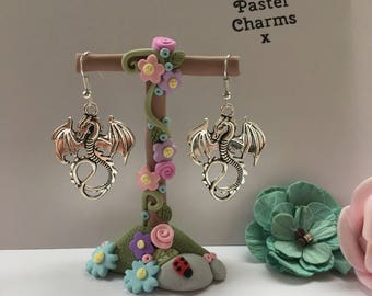 Large dragon earrings, with gift box  x