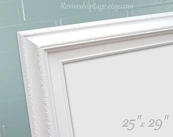 "Unique DRY ERASE BOARD For Sale White Framed Magnetic Kitchen Dry Erase Board Office Decor 29""x25"" Cork Board Organizer Magnetic Board"