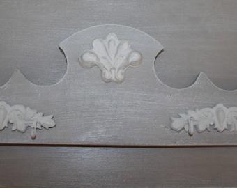 Weathered wood coat rack