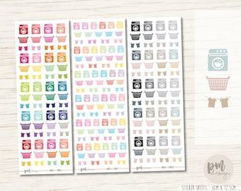 Washing Icon Mix Stickers - Planner Stickers - IM03