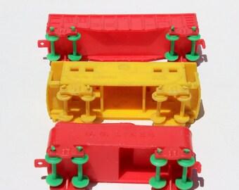 Vintage Plastic Toy Train US Lines Burlington Route Caboose Rail Car Railroad Kids Toy Childrens Toy