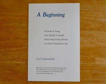 A Beginning