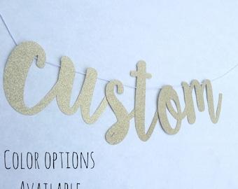 Custom Banner-Large Custom Banner-Gold Glitter Custom Banner-Personalized Banner-Personalized Large Banner