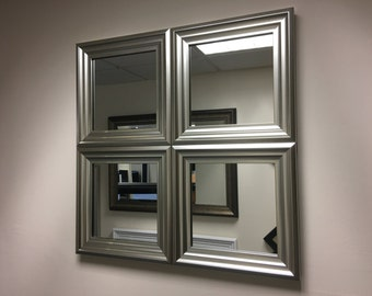 """EXCLUSIVE""""The Hornby"""" Silver Wall Mirror 62 X 62 CM"""