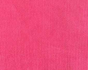 "SALE Candy Pink Featherwale Corduroy Fabric  --  44"" Wide"