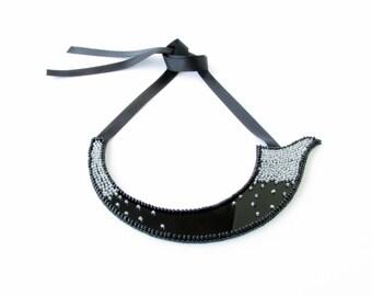 Ζen Necklace -Avant Garde Necklace-Couture Necklace-Bib Beaded Necklace-Couture Jewellery