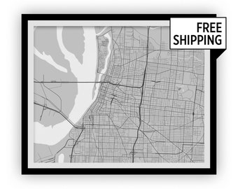Memphis Map Print - Choose your color