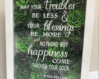 Irish decor, Irish Blessing, Irish wall hanging, Irish home decor, St Pat's decor, St Patrick's decoration, St Pat's Day, St Patrick's Day