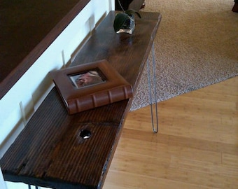 Modern Minimalist Entry Hall Foyer Table - Display Table - Jewlery Table - Console Table -Reclaimed - Salvaged