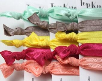 Ponytail Holder - Ponytail Bracelet - Hair Elastic Bracelet - Creaseless Hair Ties - Elastic Hair Bands - Hair Elastic Bands - Hair Elastics