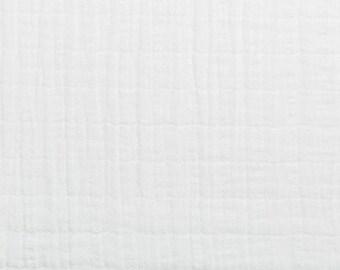 Shannon fabrics cotton double gauze solid snow kids fabric 0, 50 m