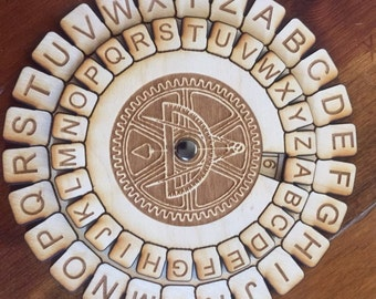 6 inch Wooden secret decoder - FREE SHIPPING