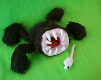 Handmade Fuzzy Brown Monster Plush