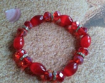 Red catseye bracelet