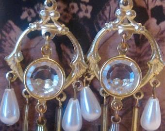 Lucite Chandelier Earrings