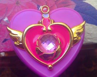 Sailor Moon Pink heart name badge holder