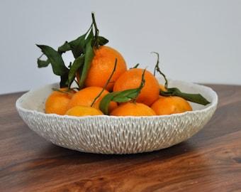 SALE Extra Large Copper Splatter Geode Bowl - Large Serving Bowl, Ceramic Bowl, Fruit Bowl, Handmade Pottery Bowl, Ceramic Serving