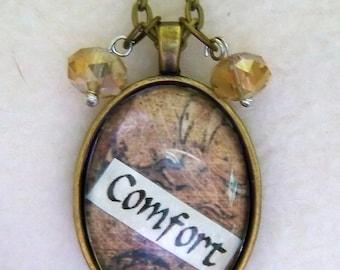 Comfort - Healing Art Necklace, No.26