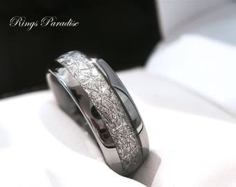 Meteorite Ring Meteorite Wedding Band Meteorite Engagement Ring Meteorite Jewelry Mens Meteorite Ring Mens Wedding Band Women Meteorite Ring