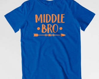 Middle Brother shirt Middle bro shirt Sibling shirts New baby shirt Pregnancy announcement gender reveal