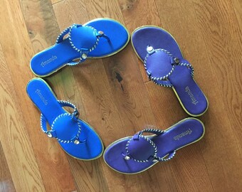 Personalized interchangeable Medallion Sandals Choose your colors