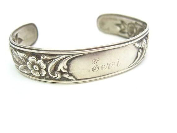 Vintage S. Kirk & Son Sterling Silver Floral Repoussé Cuff Bracelet