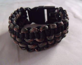 LIQUIDATION double paracord bracelet black and camouflage
