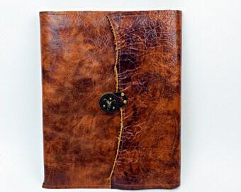 Executive nachfüllbar Lederbuch-Distressed Leder ausblenden