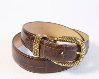 Vintage Brighton Brown Leather Belt size medium